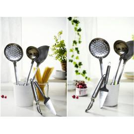 Bộ dụng cụ làm bếp 6 món tay inox Flamenco FSKT03 hàng chính hãng