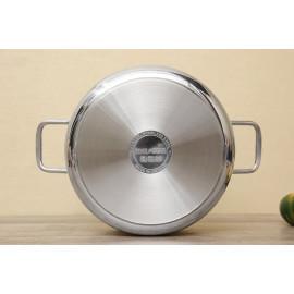 Nồi nấu canh Inox 3 đáy 26cm Fivestar FSN26IN1 nắp kính - Hàng chính hãng, bảo hành 60 tháng