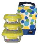 Bộ túi đựng 3 hộp cơm Lunchbox Lock&Lock SoundLock LEP211S3