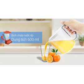 Máy ép trái cây Panasonic PAVH-MJ-68MWRA dung tích 600 ML sản xuất Malaysia - Hàng chính hãng, bảo hành 12 tháng