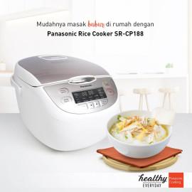 Nồi cơm điện tử Panasonic SR-CP188NRA dung tích 1.8 lít sản xuất Malaysia - Hàng chính hãng bảo hành 12 tháng