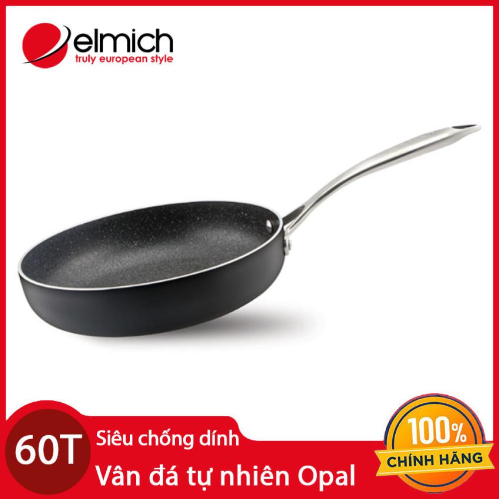 Chảo vân đá tự nhiên chống dính Elmich Opal 20cm EL-3805 xuất xứ CH Séc chính hãng. bảo hành 60 tháng