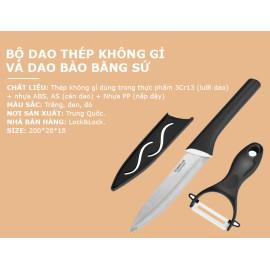 Bộ dao gọt Lock&Lock Cookplus CKK502BLK