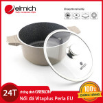 Nồi đá chống dính Elmich Vitaplus Perla EL0342 (24cm) dúng bếp từ xuất xứ CH Séc, bảo hành 2 năm