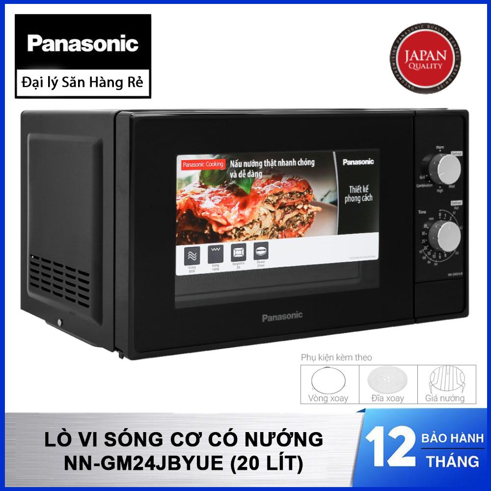 Lò vi sóng cơ có nướng Panasonic NN-GM24JBYUE dung tích 20 Lít bảo hành chính hãng 12 tháng, tặng kèm Vỉ nướng