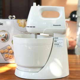 Máy đánh trứng, khuấy bột kèm tô Panasonic MK-GB3WRA - Hàng chính hãng, bảo hành 12 tháng