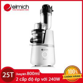 Máy ép chậm trái cây nguyên quả cao cấp Elmich JEE-1854 800ml 240W chính hãng, bảo hành 25 tháng