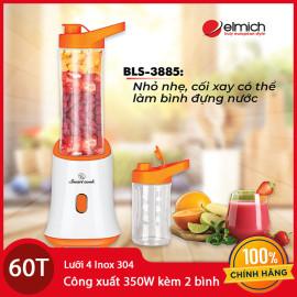 Máy xay sinh tố Elmich Smartcook BLS-3885 350W kèm 2 bình nhựa - hàng chính hãng, bảo hành 12 tháng