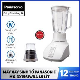 Máy xay sinh tố Panasonic MX-GX1561WRA cố thủy tinh, dung tích 1.5 Lít - Hàng chính hãng, bảo hành 12 tháng