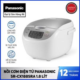Nồi cơm điện tử dung tích 1.8 lít Panasonic SR-CX188SRA xuất xứ Malaysia - Bảo hành 12 tháng chính hãng