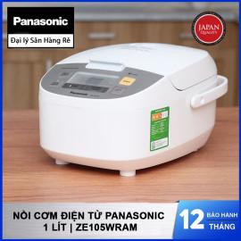 Nồi Cơm Điện Tử Panasonic dung tích 1 Lít ZE105WRAM hàng chính hãng sản xuất Malaysia bảo hành 12 tháng