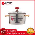 Nồi Inox 304 cao cấp Red Velvet Elmich 22cm 2355269 xuất xứ CH Séc chính hãng, bảo hành 5 năm