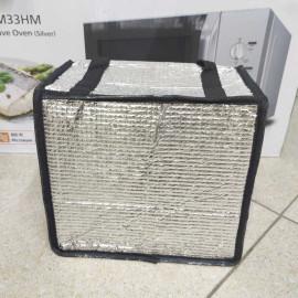 Túi giữ nhiệt tráng bạc đựng hộp cơm trưa kích thước 24 x 24 x 14 cm