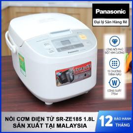 Nồi cơm điện tử Panasonic SR-ZE185 dung tích 1.8 Lít sản xuất tại Malaysia, hàng chính hãng bảo hành 12 tháng