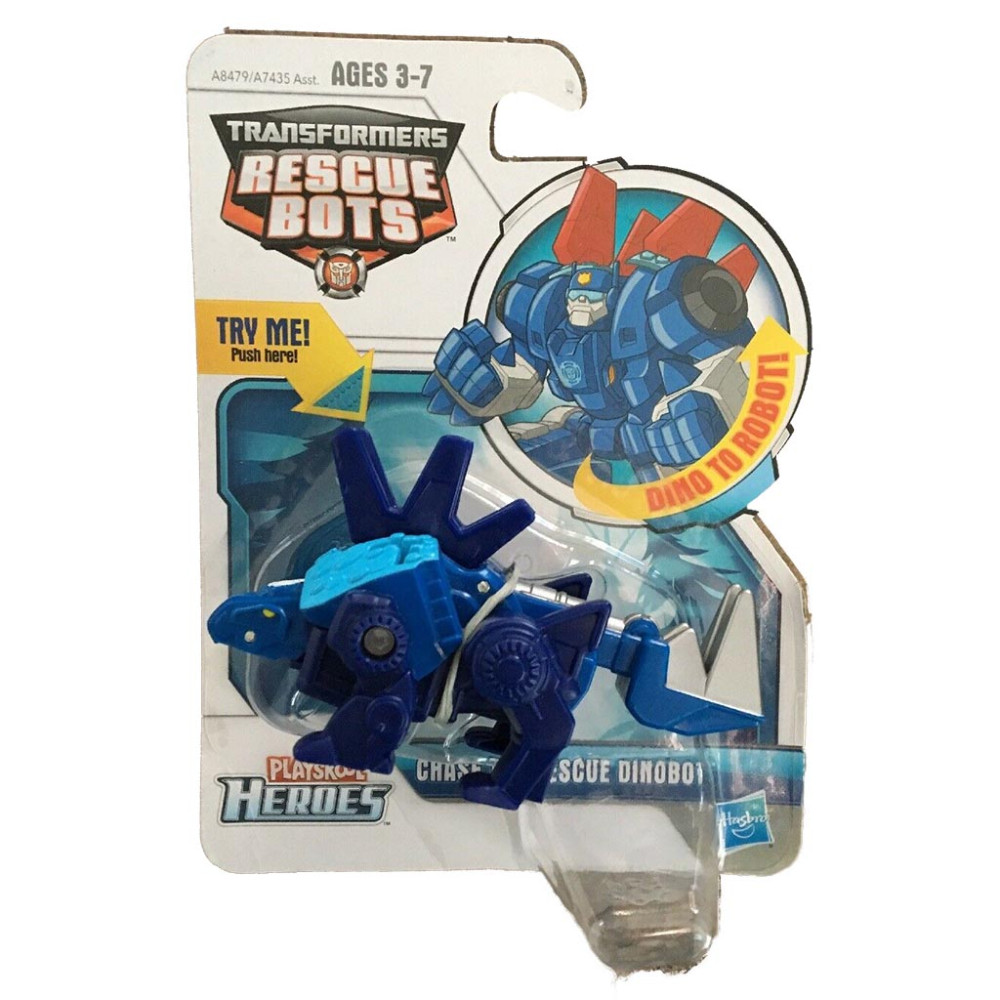 Robot Transformers Playskool Heroes Rescue Bots Chase the Rescue Dinobot (Box)
