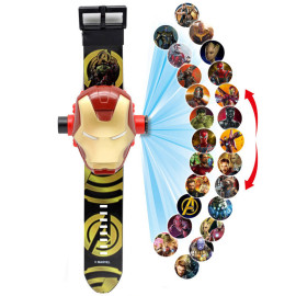 Đồng hồ điện tử chiếu 24 hình 3D Projector Watch Người sắt Avengers