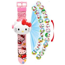 Đồng hồ điện tử chiếu 24 hình 3D Projector Watch Hello Kitty
