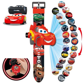 Đồng hồ điện tử chiếu 24 hình 3D Projector Watch Cars McQueen