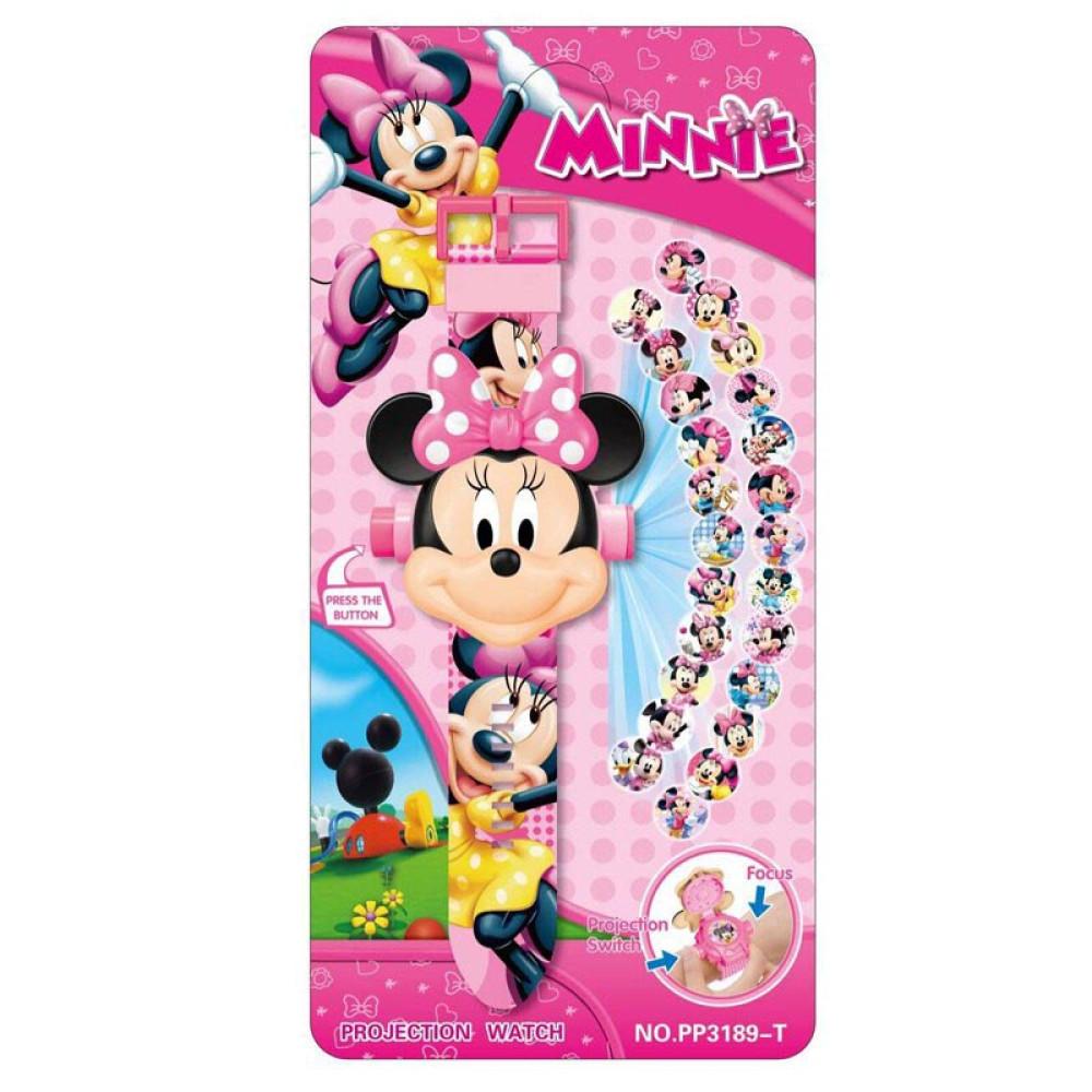 Đồng hồ điện tử đeo tay chiếu 24 hình 3D Projector Watch Minnie Mouse