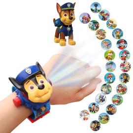 Đồng hồ điện tử chiếu 24 hình 3D Projector Watch Paw Patrol