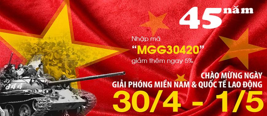 Tặng Mã giảm giá tới 45k chào mừng Kỷ niệm 45 năm Giải phóng Miền Nam 30/4 và Quốc tế lao động 01/5/2020