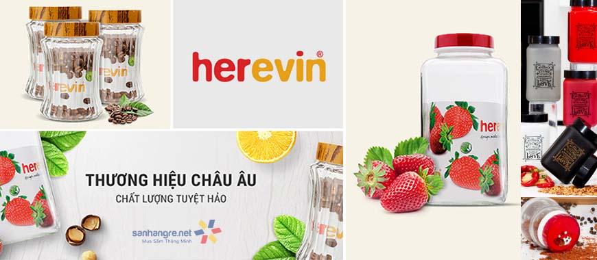 Hũ thủy tinh Herevin Thổ Nhĩ Kỹ