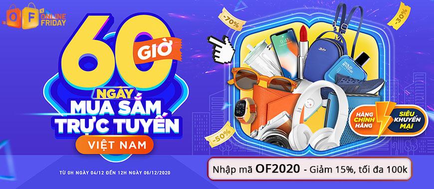 """Online Friday 2020 - Đại tiệc Siêu SALE """"60 Giờ Mua Sắm Trực Tuyến Việt Nam lớn nhất năm"""" cùng Săn Hàng Rẻ"""