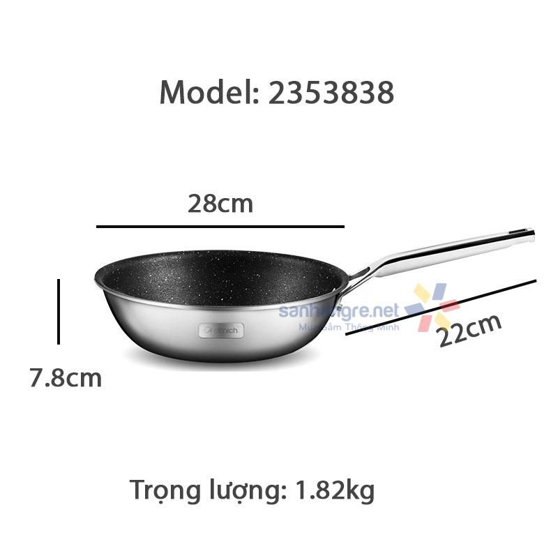 Chảo chống dính Inox liền khối sâu lòng Elmich Trimax CZ EL-3835 size 20cm