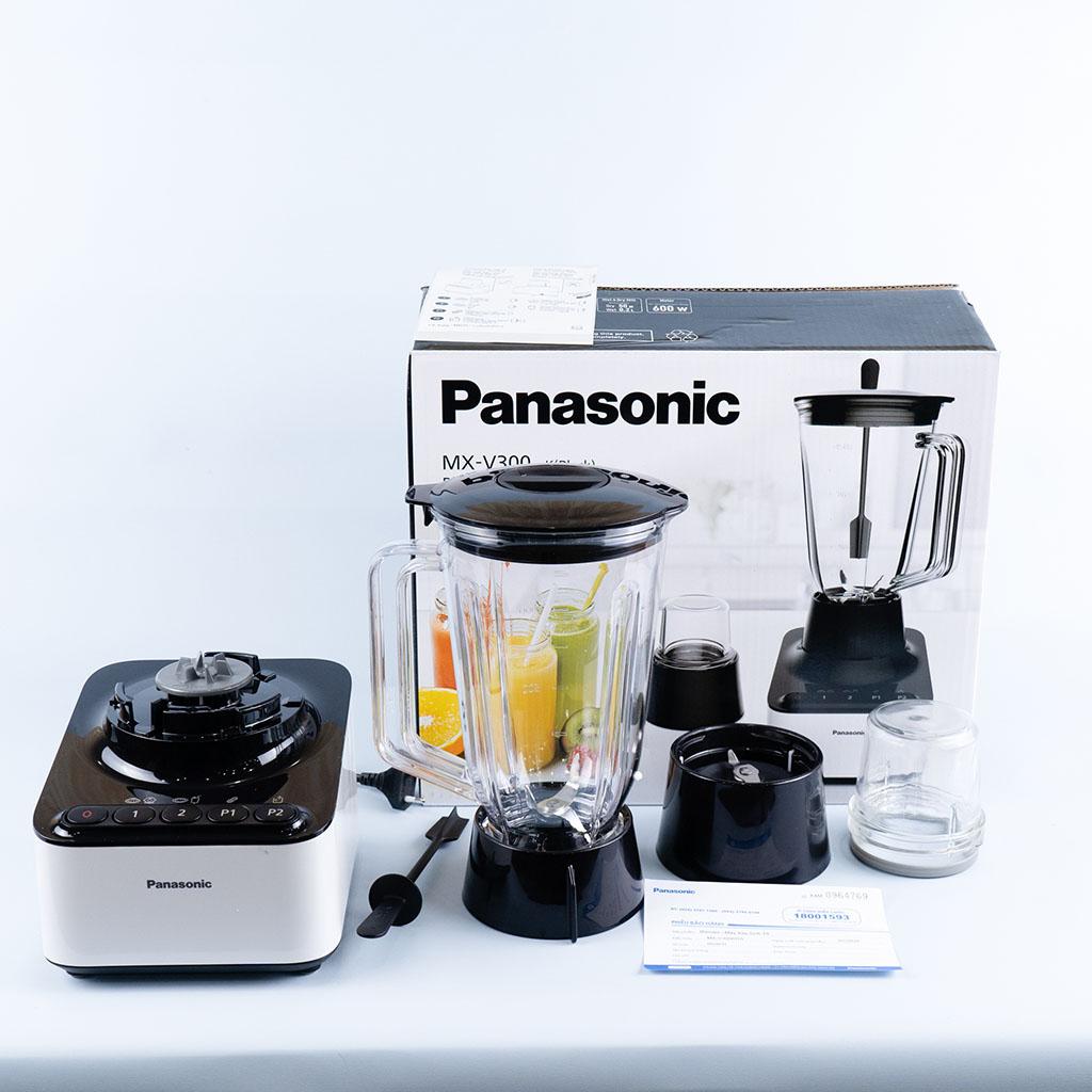 Máy xay sinh tố xay đá Panasonic MX-V300KRA 2 cối công suất 600W - Hàng Chính Hãng, bảo hành 12 tháng