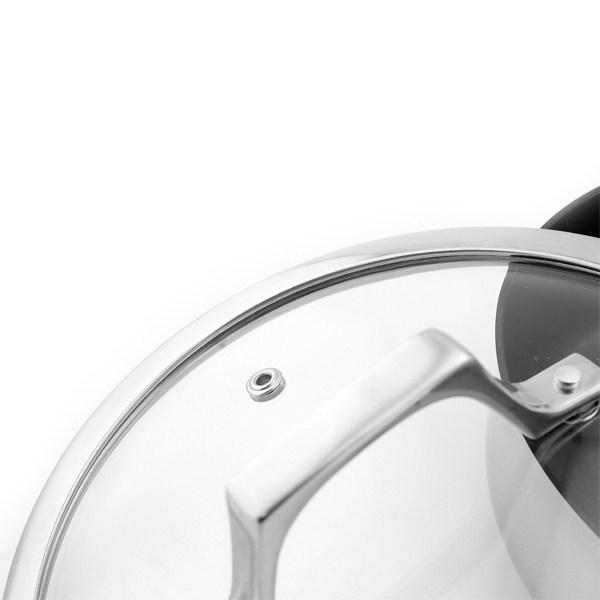 Chảo chống dính Inox 304 vung kính Elmich Potenza EL-3258 size 26cm