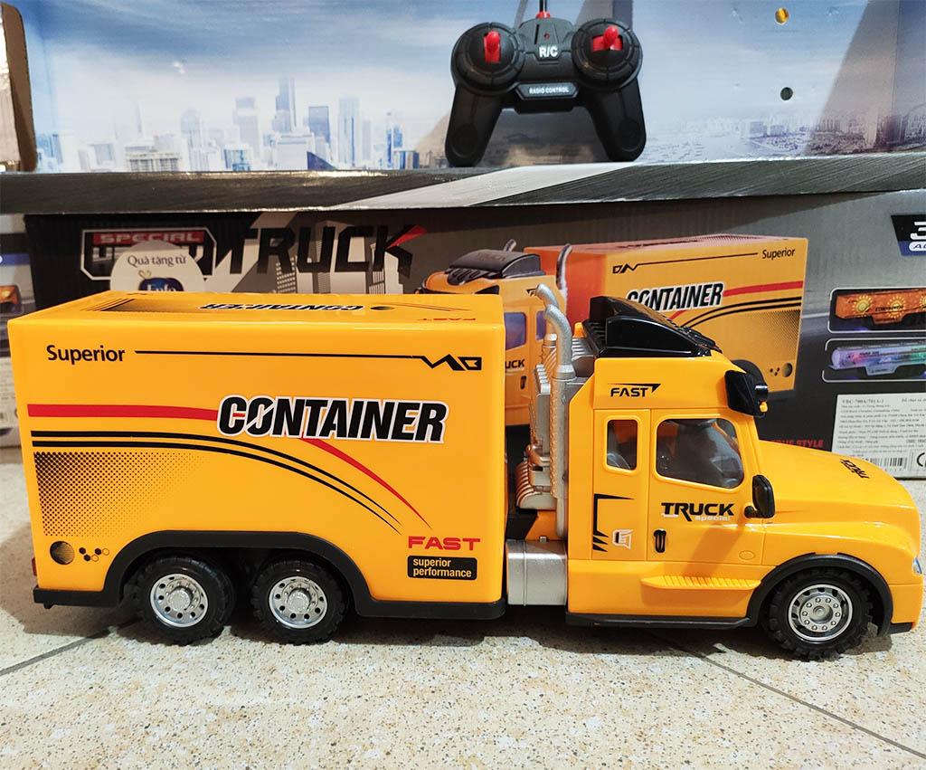 Đồ chơi Xe ô tô Container điều khiển từ xa VBCare dài 36cm quà tặng Enfa