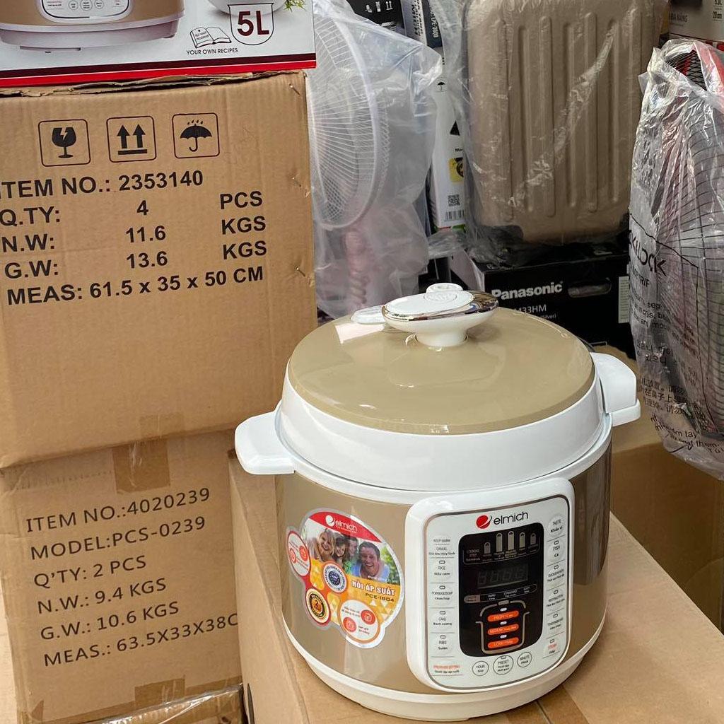 Nồi áp suất điện Elmich PCE-1804 dung tích 5 lít - hàng chính hãng, bảo hành 25 tháng