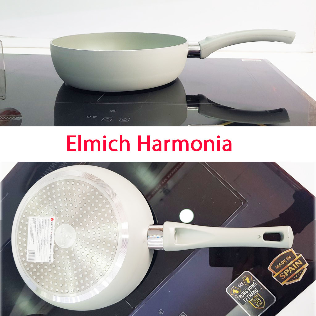 Chảo nhôm chống dính đáy từ 24cm Elmich Harmonia EL-3780 - Hàng chính hãng