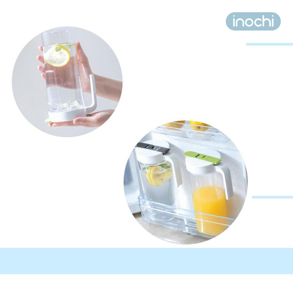 Bình nhựa đựng nước cao cấp Inochi Biwa dung tích 1.2 lít hàng xuất Nhật