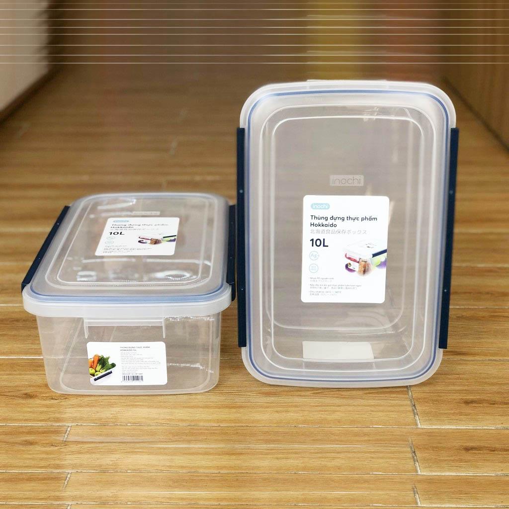 Thùng Đựng Thực Phẩm, Thức Ăn Bằng Nhựa Cao Cấp Hokkaido Inochi 10 Lít