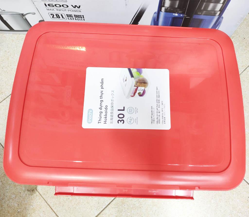 Thùng Đựng Thực Phẩm, Thức Ăn Bằng Nhựa Cao Cấp Hokkaido Inochi 30 Lít