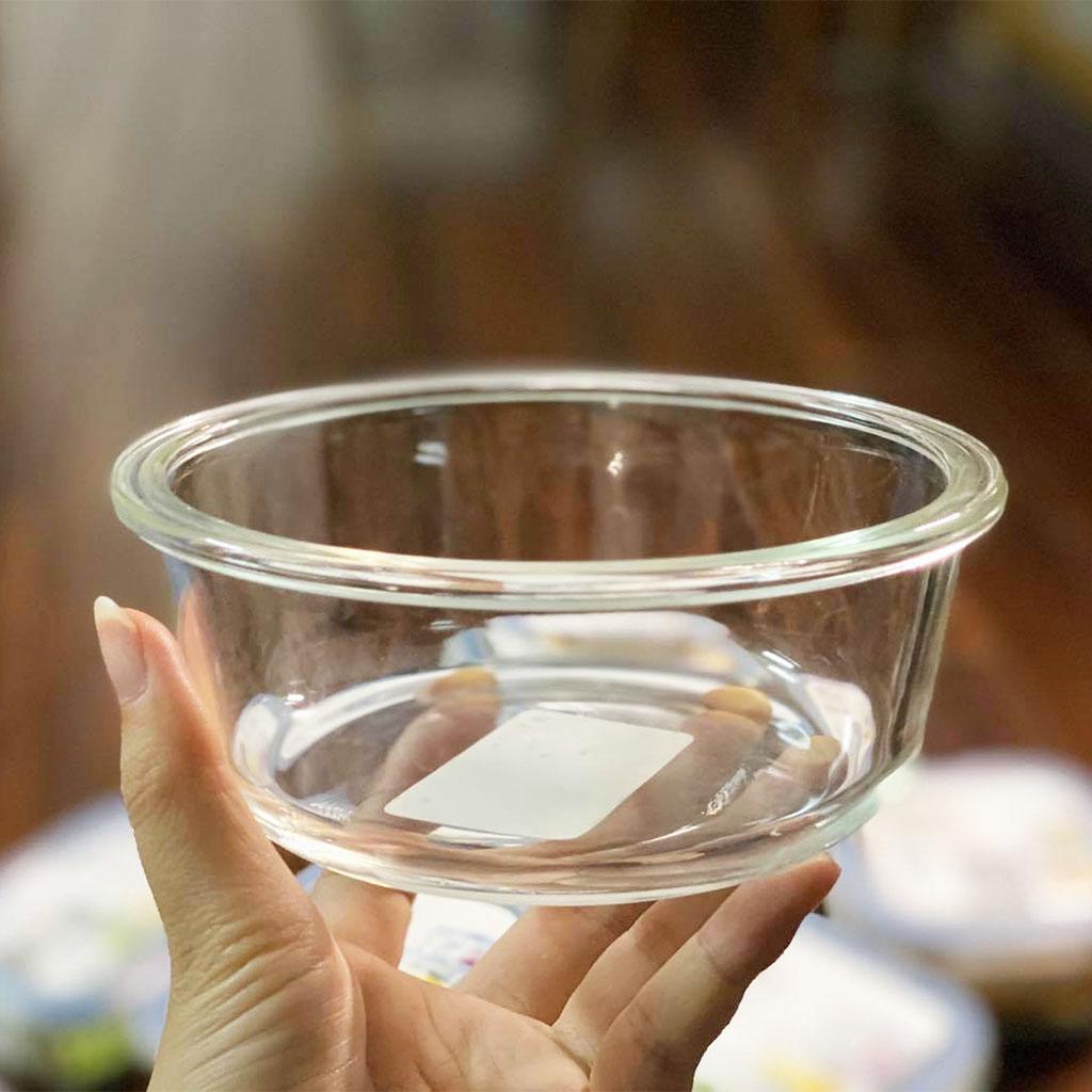 Hộp thuỷ tinh tròn cao cấp kháng khuẩn đựng thực phẩm Inochi Nikko 400ml