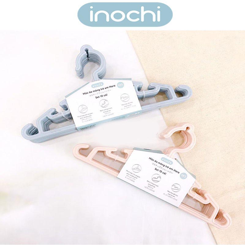 Set 10 móc áo mỏng trẻ em Inochi Hara 185