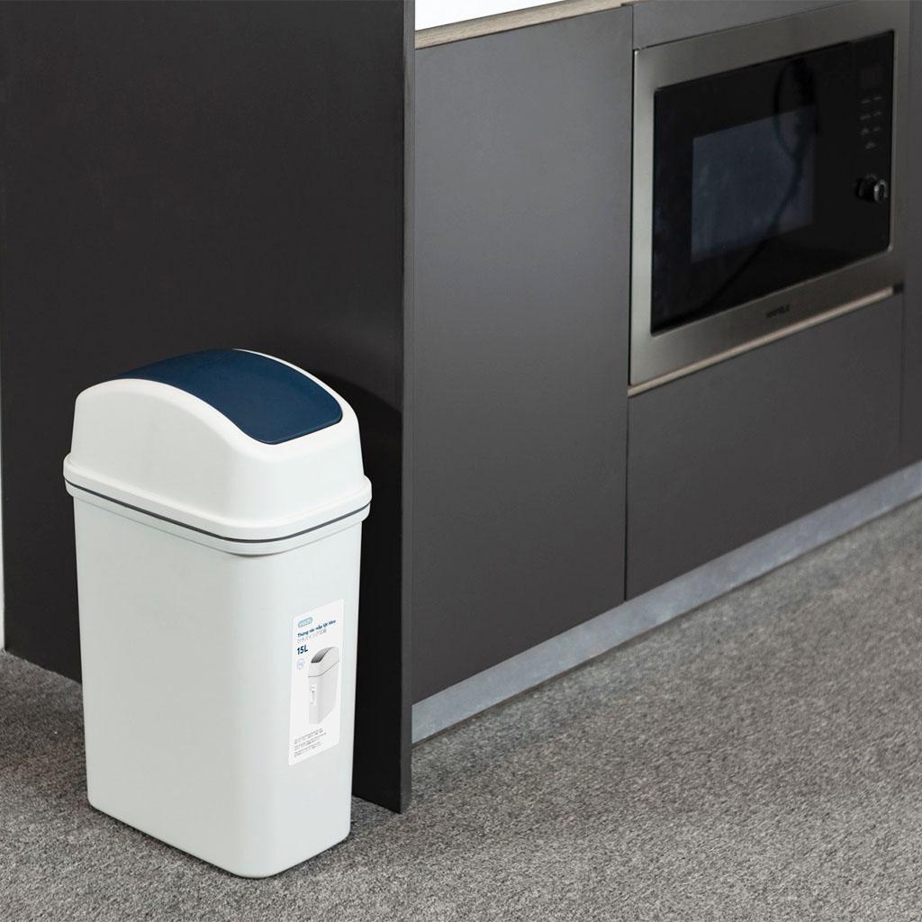 Thùng rác nắp lật Inochi Hiro 5 lít IHNL-5