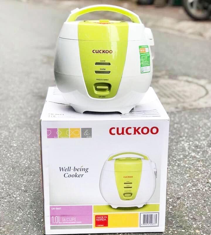 Nồi Cơm Điện Nắp Gài Cuckoo CR- 0661-G - 1L Hàn Quốc