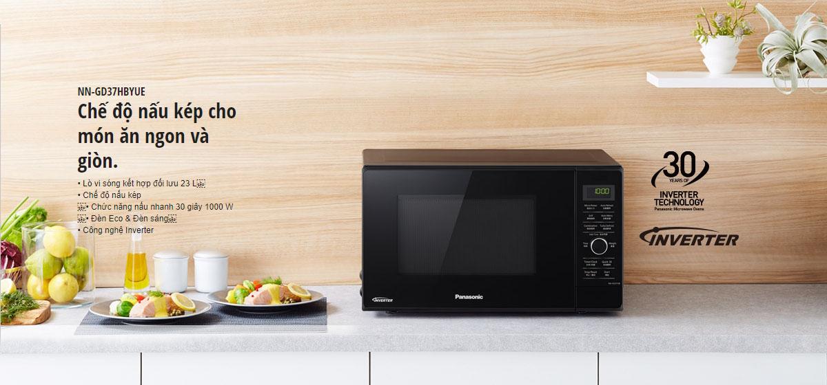 Lò vi sóng inverter có nướng Panasonic PALM-NN-GD37HBYUE