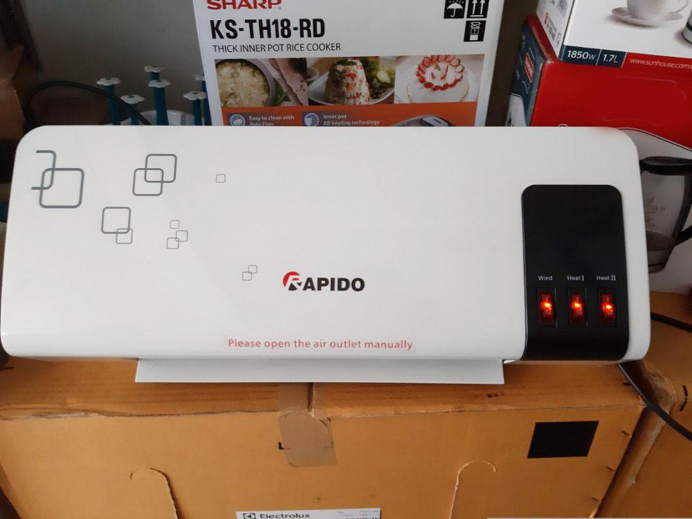 Máy sưởi gốm Rapido RCH2000-M - Hàng chính hãng, bảo hành 12 tháng