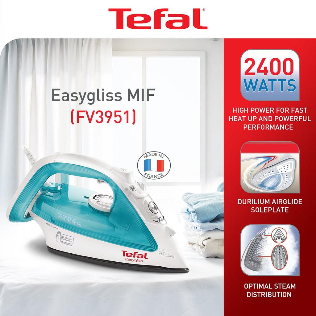 Bàn ủi hơi nước Tefal FV3951 công suất 2400W sản xuất tại Pháp