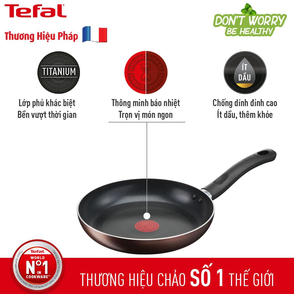 Chảo Nhôm Chống Dính titanium 24cm Tefal Day By Day G1436405