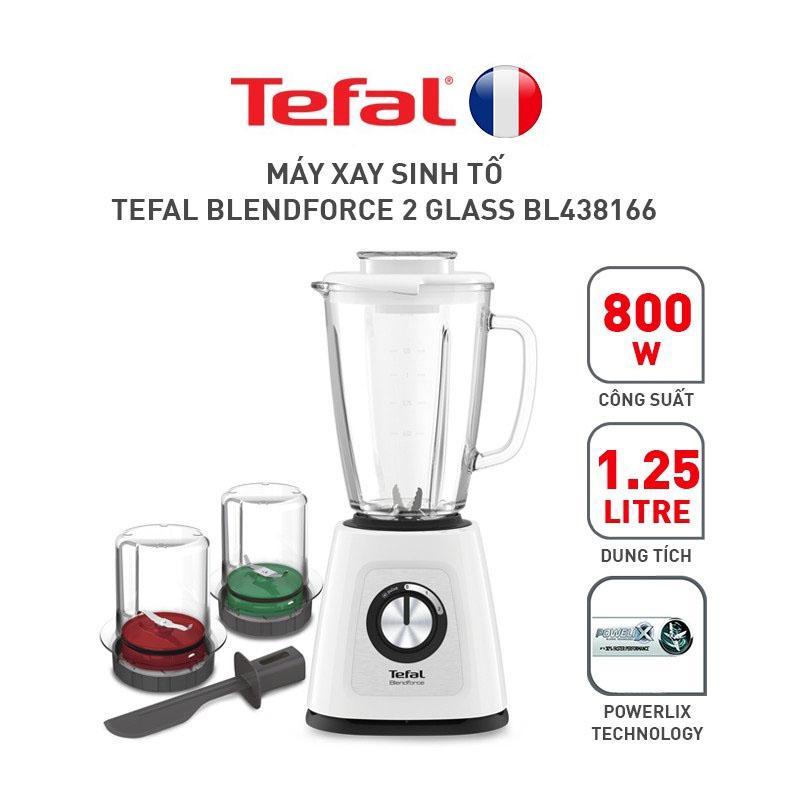 Máy xay sinh tố 1.25 lít 800W Tefal 3 cối thuỷ tinh BL438166