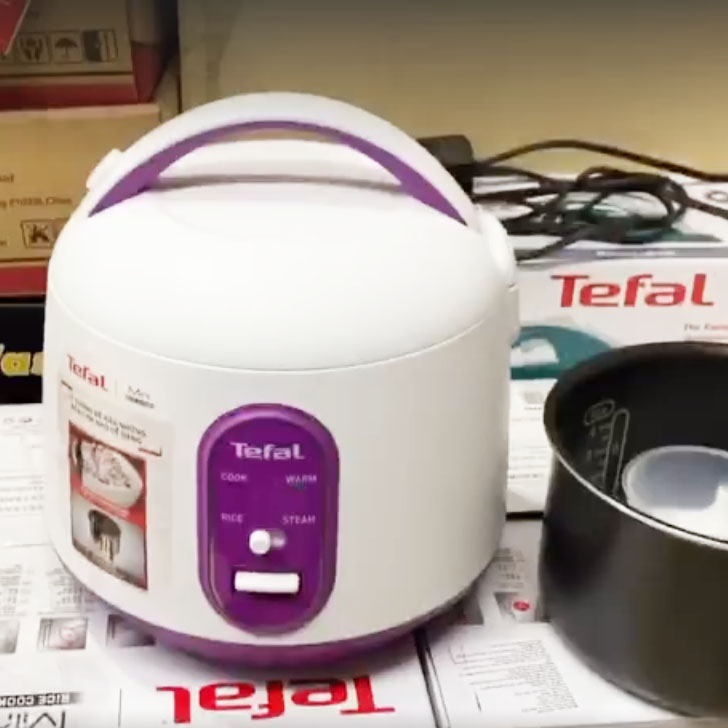 Nồi cơm điện cơ mini 0.7 lít Tefal RK224168
