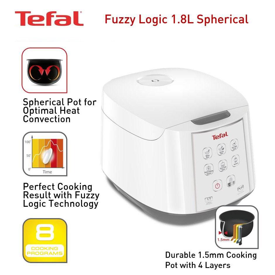 Nồi cơm điện tử Tefal RK732168 dung tích 1.8 lít công suất 750W - Hàng chính hãng