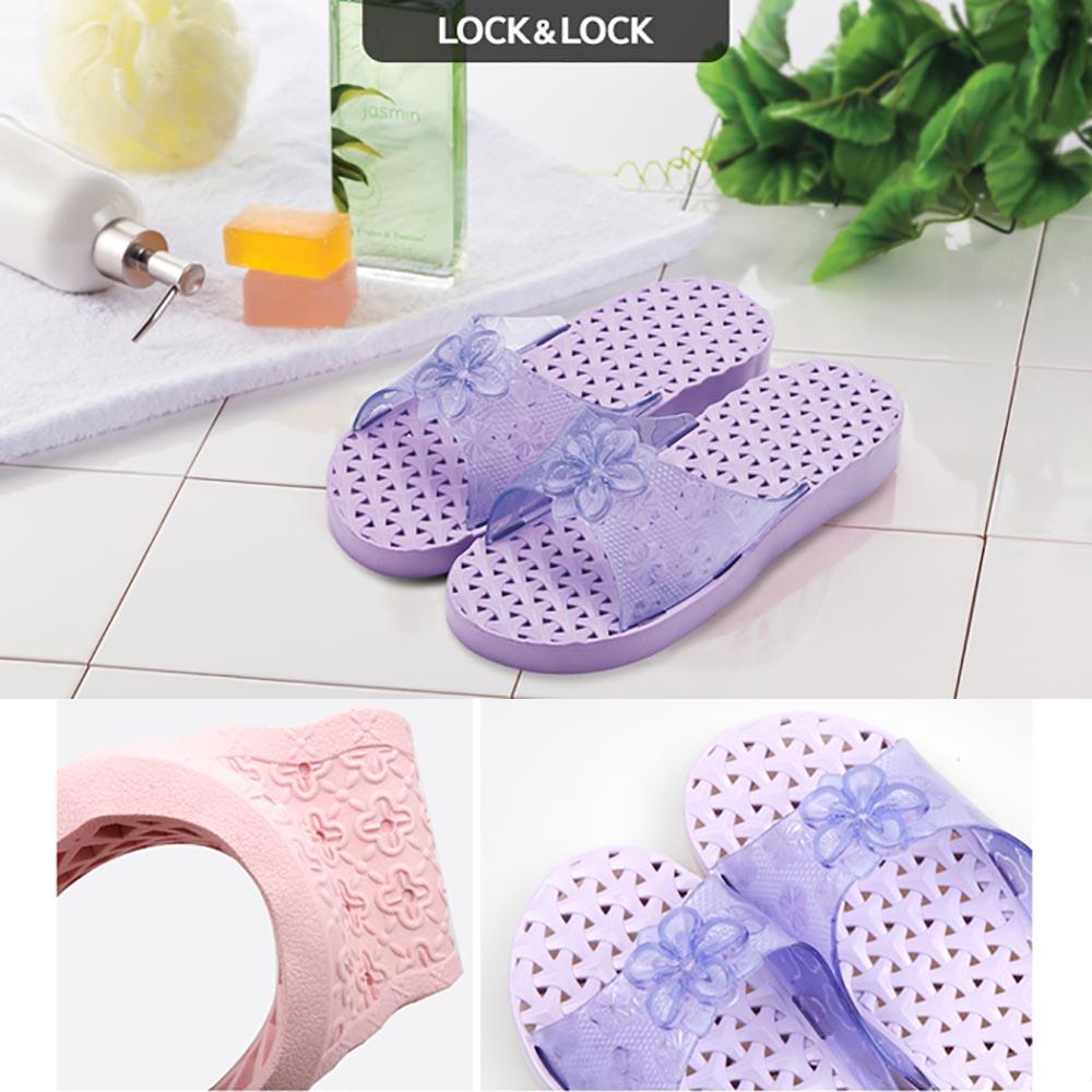 Dép nhựa điểm hoa đi trong nhà tắm Lock&lock ETM538