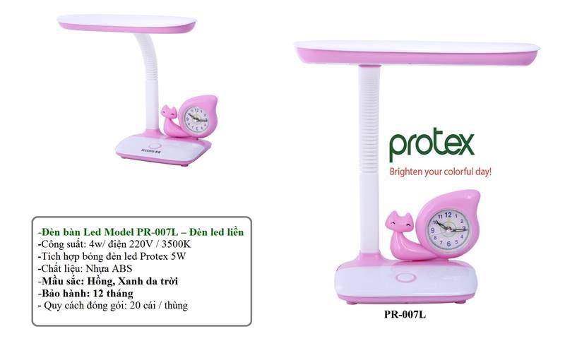 Đèn bàn học LED chống cận thị Protex PR007L chính hãng, bảo hành 12 tháng