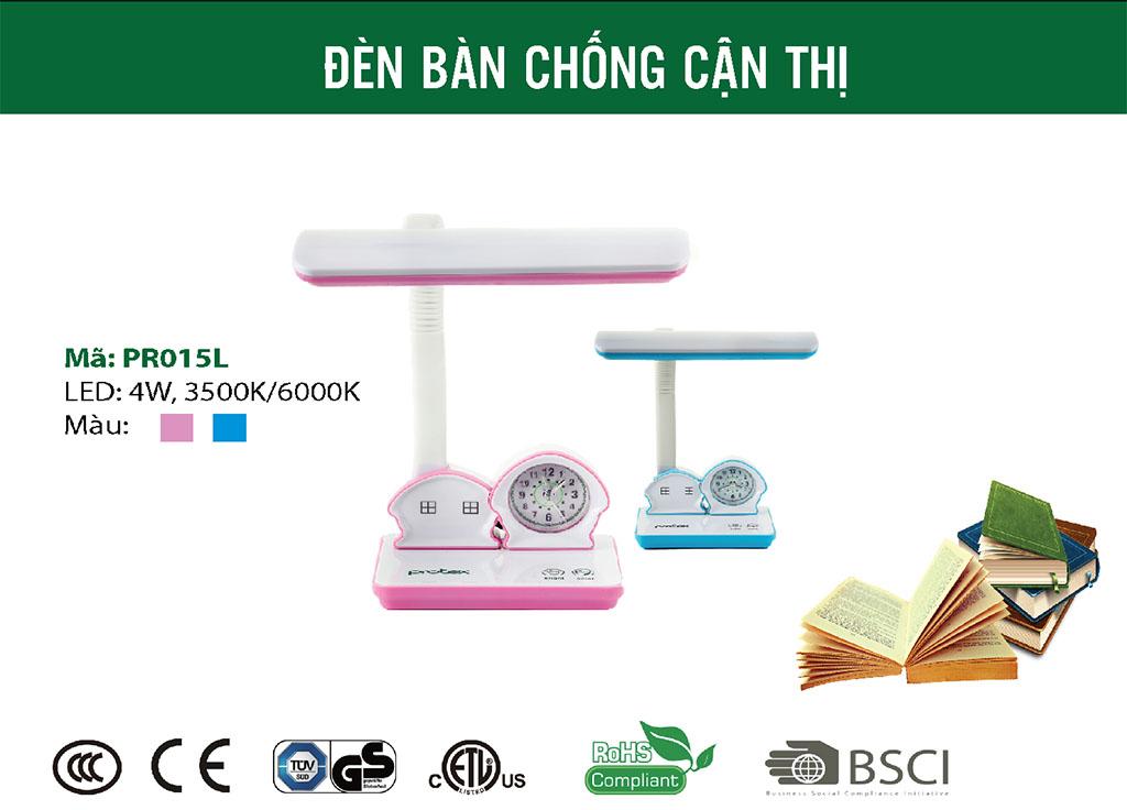 Đèn bàn LED học sinh chống cận thị PROTEX PR-015L